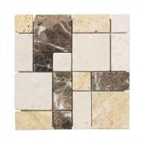 Jeffrey Court Creama Emp Mosaics 12 in. x 12 in. Marble Kitchen Wall / Floor Tile