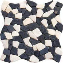 MS International Mixed Flat Pebbles 16 In. x 16 In. Marble Floor & Wall Tile
