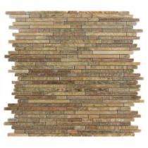 Splashback Tile Windsor Random Wood Onyx 12 in. x 12 in. Marble Floor and Wall Tile