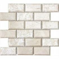 MS International Paradise Beige 12 in. x 12 in. Polished Beveled Marble Mesh-Mounted Mosaic Floor and Wall Tile