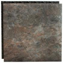 Place N' Go Blue Shale 18.5 in. x 18.5 in. Interlocking Waterproof Vinyl Tile with Built-In Underlayment