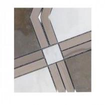 Splashback Tile Prism Tormento Marble Floor and Wall Tile - 6 in. x 6 in. Tile Sample