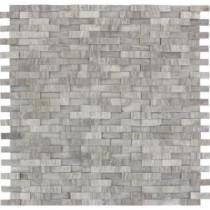 MS International White Oak Splitface 12 in. x 12 in. Marble Mesh-Mounted Wall Tile
