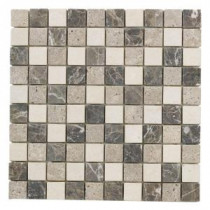 Jeffrey Court Emperador Mosaic Mix 12 in. x 12 in. Marble Wall and Floor Tile