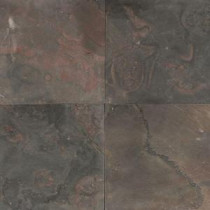 Daltile Natural Stone Collection Indian Multicolor 12 in. x 12 in. Slate Floor and Wall Tile (10 sq. ft. / case)