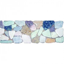 MS International Tumbled Rock Strip 4 in. x 12 in. Marble Listello Floor & Wall Tile (1 Ln. Ft. per piece)