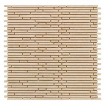 Jeffrey Court Egyptian Forest Mini Pencil 12 in. x 12 in. Marble Mosaic Wall Tile