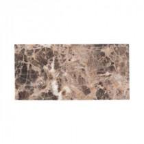 Jeffrey Court Emperador 3 in. x 6 in. Honed Marble Floor/Wall Tile (8pieces/1 sq. ft./1pack)