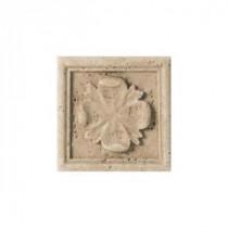 Daltile Fashion Accents Positano Travertine 4 in. x 4 in. Travertine Listello Wall Tile