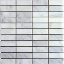 MS International Greecian White 1 in. x 3 in. Mosaic Honed Marble Floor & Wall Tile
