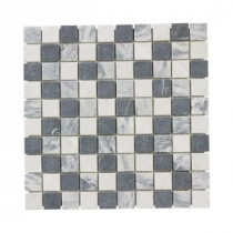 Jeffrey Court Carrara Mix Mosaics 12 in. x 12 in. Marble Wall Tile