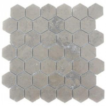 Splashback Tile Medieval Hexagon Polished 12 in. x 12 in. Marble Floor and Wall Tile