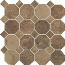Daltile Aspen Lodge Cotto Mist 12 in. x 12 in. x 6mm Porcelain Octagon Mosaic Floor and Wall Tile (7.74 sq. ft. / case)