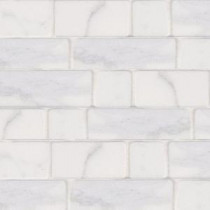 Jeffrey Court Statuario White Block 12 in. x 12 in. Marble Floor and Wall Tile