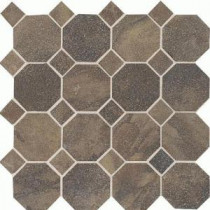 Daltile Aspen Lodge Midnight Blaze 12 in. x 12 in. x 6mm Porcelain Octagon Mosaic Floor and Wall Tile (7.74 sq. ft. / case)