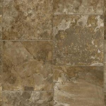 Armstrong 12 ft. Wide River Park Staggered Slate Brown Multi Vinyl Sheet