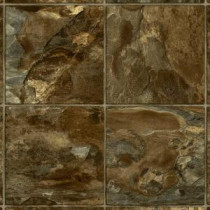 Armstrong 12 ft. Wide River Park Slate Burnt Sienna Residential Vinyl Sheet