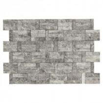 Jeffrey Court 11-3/8 in. x 12-3/4 in. Roman Blocks Grey Marble Mosaic Wall Tile
