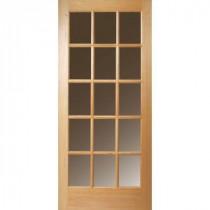 15 Lite Unfinished Fir Slab Entry Door