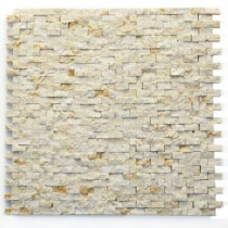 Solistone Still Life 12 in. x 12 in. Beige Natural Split Marble Mesh-Mounted Mosaic Tile