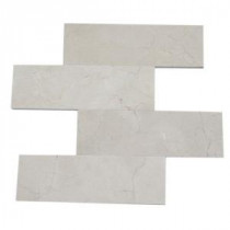 Splashback Tile Crema Marfil 4 in. x 12 in. Marble Floor and Wall Tile