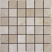 MS International 12 in. x 12 in. Crema Marfil Marble Mesh-Mounted Mosaic Tile