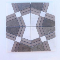 Splashback Tile Prism Tormento 12 in. x 12 in. Marble Floor and Wall Tile