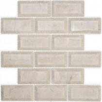 Jeffrey Court Creama Beveled 12 in. x 12 in. Marble Mosaic Wall Tile