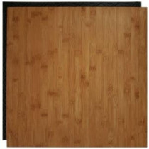 Place N' Go Bamboo 18.5 in. x 18.5 in. Interlocking Waterproof Vinyl Tile with Built-In Underlayment