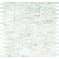 MS International Greecian White Splitface 12 in. x 12 in. Marble Mesh-Mounted Mosaic Wall Tile