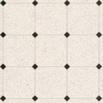 Armstrong Royelle Sheffley Black and White Vinyl Plank Flooring - 6 in. x 9 in. Take Home Sample