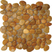 MS International Yellow Polished Pebbles 12 in. x 12 in. Marble Floor & Wall Tile