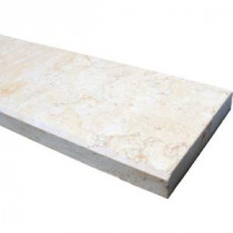 MS International Beige Double Bevelled Threshold 4 in. x 36 in. Polished Limestone Floor & Wall Tile