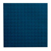 ROPPE Low Profile Circular Design Deep Navy 19.69 in. x 19.69 in. Dry Back Tile