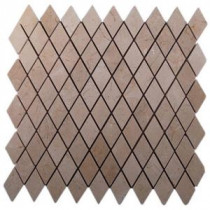 Splashback Tile Crema Marfil Diamond 12 in. x 12 in. Marble Floor and Wall Tile