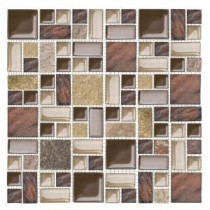 Jeffrey Court Native Ocean 12 in. x 12 in. Marble Mosaic Wall Tile