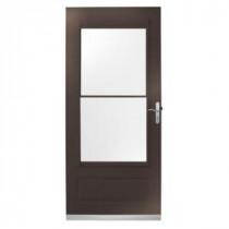 400 Series 32 in. Bronze Aluminum Self-Storing Storm Door with Nickel Hardware