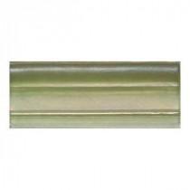 Daltile Cristallo Glass Peridot 3 in. x 8 in. Chari Rail Glass Accent Wall Tile