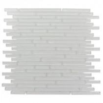 Splashback Tile Windsor Random Bright White 12 in. x 12 in. Marble Floor and Wall Tile